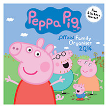 Buy Peppa Pig 2014 Family Organiser Online at johnlewis.com