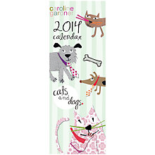Buy Caroline Gardner Cats & Dogs Slim 2014 Calendar Online at johnlewis.com