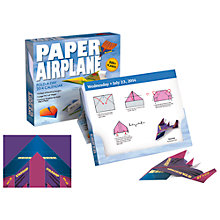 Buy Paper Airplane Activity Boxed 2014 Calendar Online at johnlewis.com