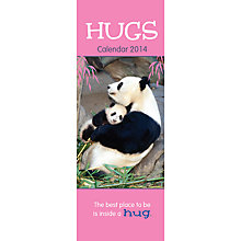 Buy Hugs Slim 2014 Calendar Online at johnlewis.com