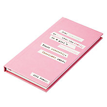 Buy Caroline Gardner Text Slim 2014 Diary Online at johnlewis.com