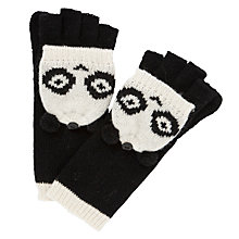 Buy John Lewis Novelty Panda Gloves, Black Online at johnlewis.com