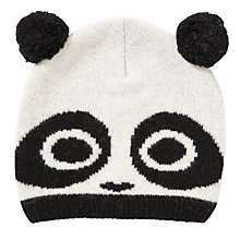 Buy John Lewis Novelty Panda Beanie, White Online at johnlewis.com