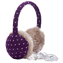 Buy John Lewis Tech Fairisle Dot Hear Muffs With Earphones Online at johnlewis.com