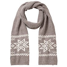 Buy John Lewis Tech Fairisle Snowflake Scarf, Toast Online at johnlewis.com