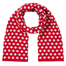Buy John Lewis Tech Spot Scarf, Red Online at johnlewis.com