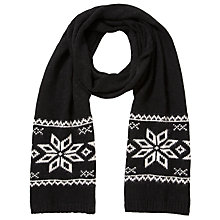 Buy John Lewis Tech Fairisle Snowflake Scarf Online at johnlewis.com