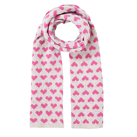 Buy John Lewis Tech Heart Scarf, Light Grey Online at johnlewis.com