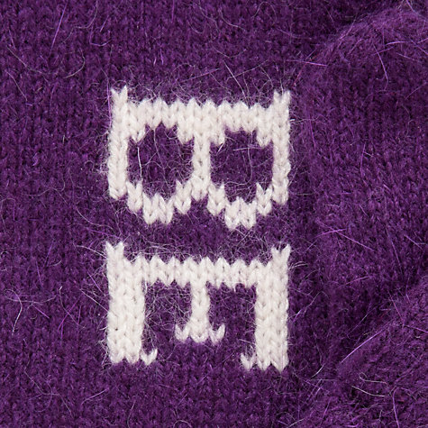 "Buy John Lewis ""Be Mine"" Slogan Mittens, Plum Online at johnlewis.com"
