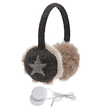 Buy John Lewis Tech Star Hear Muffs With Earphones, Grey Online at johnlewis.com