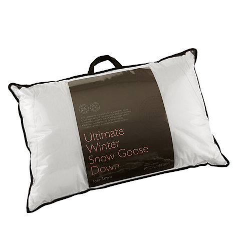 Buy John Lewis Ultimate Winter Snow Goose Down Standard Pillow, Medium/Firm Online at johnlewis.com