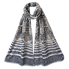 Buy East Zarine Print Scarf, Ivory Online at johnlewis.com