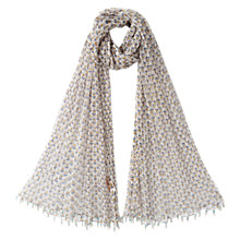 Buy East Anokhi Print Scarf, White Online at johnlewis.com
