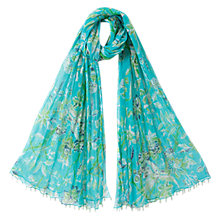 Buy East Anohki Paradise Scarf, Turquoise Online at johnlewis.com