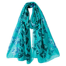 Buy East Bandhini Scarf, Aqua Online at johnlewis.com