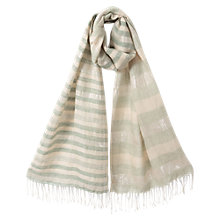 Buy East Linen Lurex Stripe Scarf, Neutrals Online at johnlewis.com