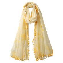 Buy East Pom Pom Scarf, Lemon Online at johnlewis.com
