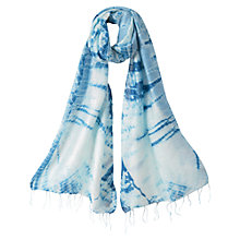 Buy East Tie Dye Scarf, Indigo Online at johnlewis.com