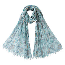 Buy East Anokhi Printed Scarf, White Online at johnlewis.com