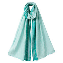 Buy East Striped Jacquard Scarf, Sardinia Online at johnlewis.com