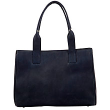 Buy John Lewis Bobbie Small Tote Handbag, Navy Online at johnlewis.com