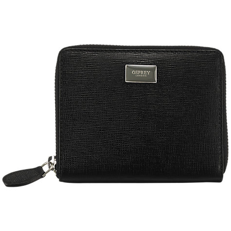 Buy OSPREY LONDON The Small Gaumont Purse, Black Online at johnlewis.com