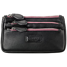 Buy OSPREY LONDON The Portobello Medium Triple Compartment Purse, Black Online at johnlewis.com