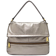Buy Fossil Explorer Flap Bag, Gunmetal Online at johnlewis.com