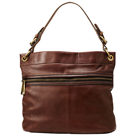 Buy Fossil Explorer Hobo Handbag, Espresso Online at johnlewis.com