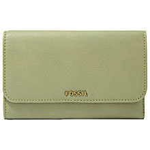 Buy Fossil Memoir Leather Flat Wallet Online at johnlewis.com