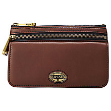 Buy Fossil Explorer Flap Leather Clutch Purse Online at johnlewis.com