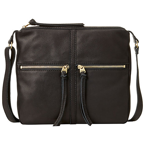 Buy Fossil Erin Leather Zip Across Body Handbag Online at johnlewis.com