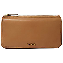 Buy Fossil Memoir Top Zip Clutch Purse Online at johnlewis.com