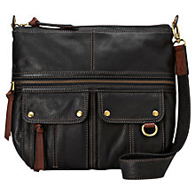 Buy Fossil Morgan Leather Top Zip Satchel Online at johnlewis.com