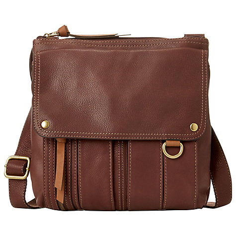 Buy Fossil Morgan Traveller Leather Shoulder Handbag Online at johnlewis.com