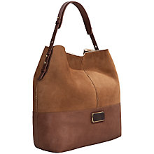 Buy UGG Kayte Shearling Hobo Handbag, Chestnut Online at johnlewis.com