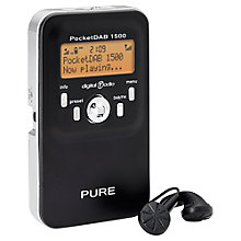 Buy Pure Outlet PocketDAB 1500 Personal DAB Radio, B Grade Stock Online at johnlewis.com