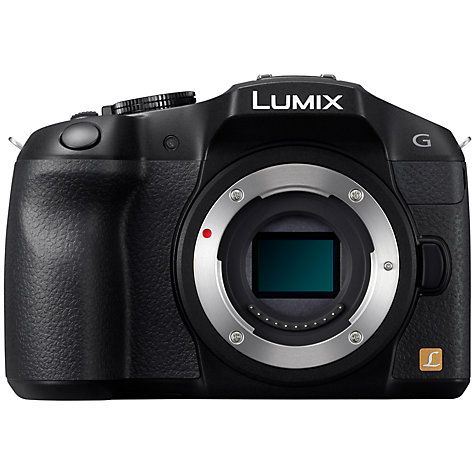 "Buy Panasonic Lumix DMC-G6 Compact System Camera, HD 1080p, 16MP, EVF, 3"" LCD, Body Only Online at johnlewis.com"