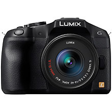 "Buy Panasonic Lumix DMC-G6 Compact System Camera with 14-42mm Lens, HD 1080p, 16MP, EVF, 3"" LCD with 16GB + 8GB Memory Card Online at johnlewis.com"