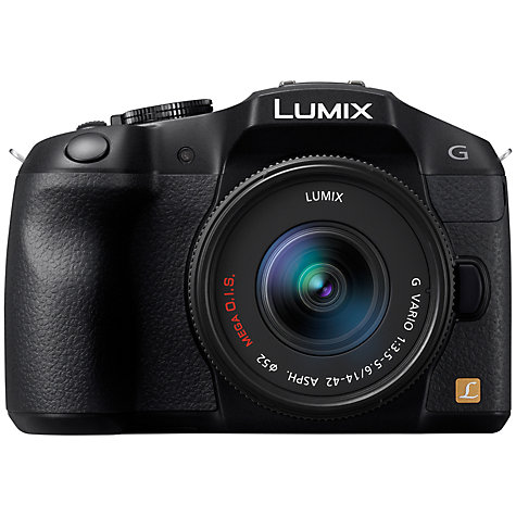 "Buy Panasonic Lumix DMC-G6 Compact System Camera with 14-42mm Lens, HD 1080p, 16MP, EVF, 3"" LCD Online at johnlewis.com"