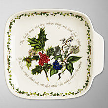Buy Portmeirion The Holly & The Ivy Canape Dish Online at johnlewis.com