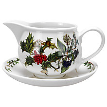 Buy Portmeirion The Holly & The Ivy Gravy Boat & Stand Online at johnlewis.com