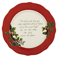 Buy Portmeirion The Holly & The Ivy Tea Plate Online at johnlewis.com