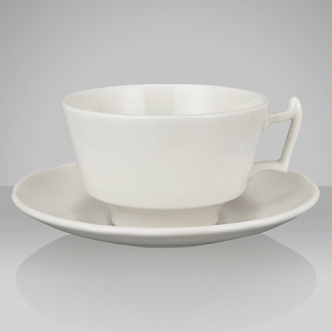 Buy Spode Rural Delamere for John Lewis Teacup & Saucer, 0.2L, White Online at johnlewis.com