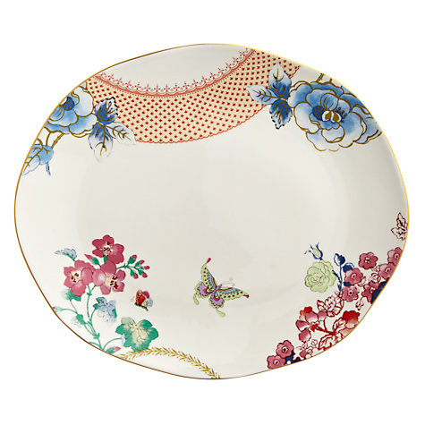 Buy Wedgwood Butterfly Oval Serving Platter Online at johnlewis.com