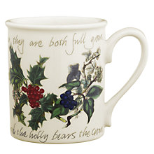Buy Portmeirion The Holly & The Ivy Breakfast Mug Online at johnlewis.com