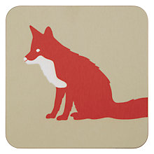 Buy Anorak Proud Fox Coaster, Set of 4 Online at johnlewis.com