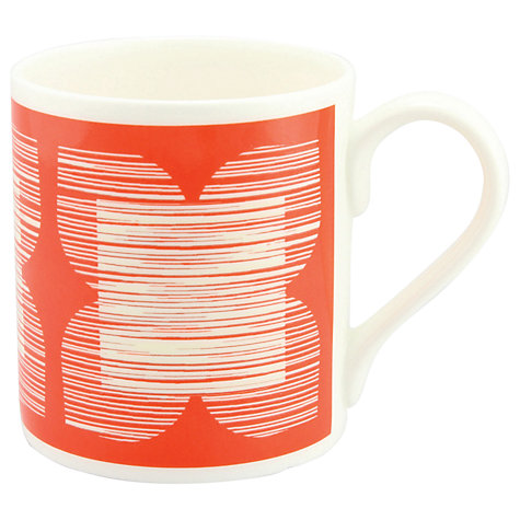 Buy Orla Kiely Grey Flower Mug, Red Online at johnlewis.com
