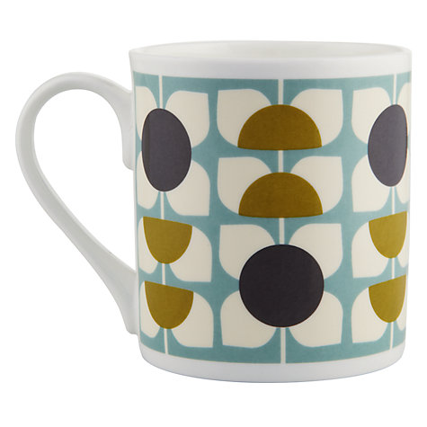 Buy Orla Kiely Turquoise Flowers Mug Online at johnlewis.com