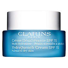 Buy Clarins HydraQuench Cream, SPF15, Normal to Dry Skin, 50ml Online at johnlewis.com